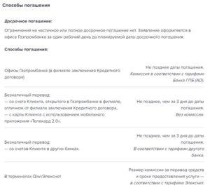 Потребительский кредит Газпромбанк